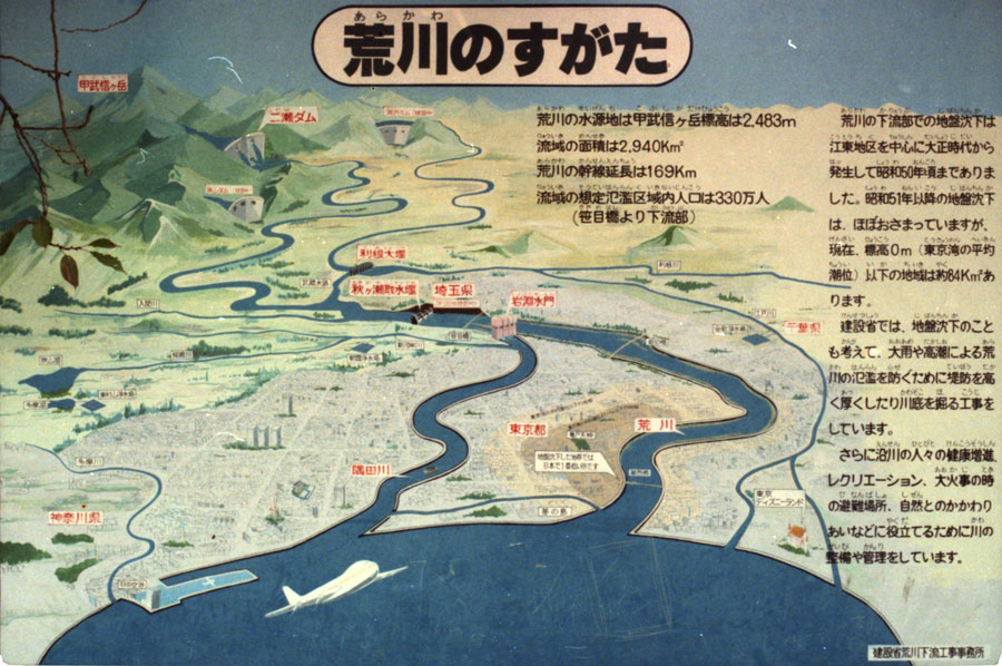 Arakawa watershed explanation, ca 1987.